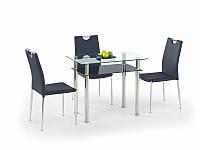 Cтекляный обеденный стол Lester 90 (Halmar)