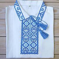 Рубашка для мальчика на короткий рукав ( 100% лен)