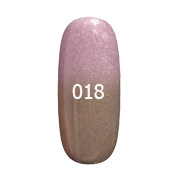 Гель-лак F.O.X Thermo №018 (бежевый с микроблеском при нагревании розовый),6 мл