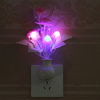 Ночник светильник в форме магических растений (грибы)!  С датчиком света!