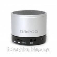 Мини блютус аудио колонка 1.0 omega bluetooth og47s silver с радио