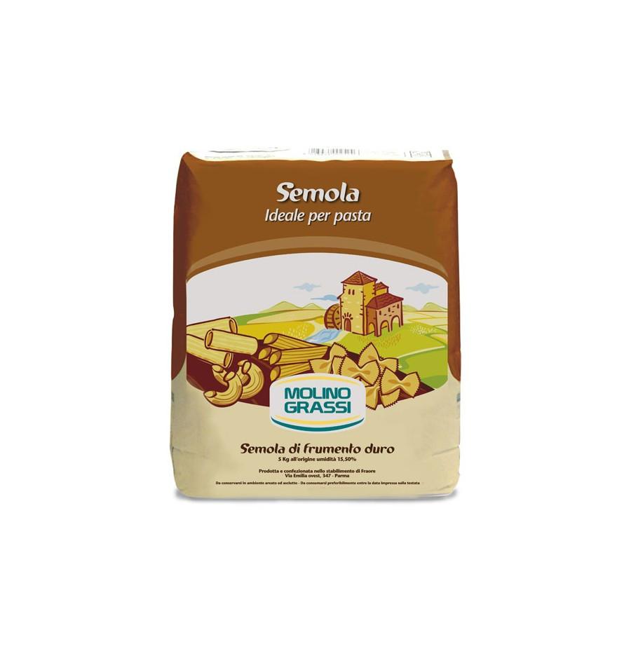 Мука твердых сортов пшеницы SEMOLA PER PASTA Molino Grassi 1кг   - Casa Rinaldi - продукты итальянского фермерства в Киеве
