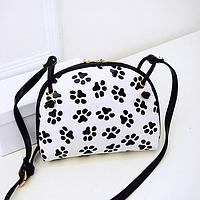 Мини сумочка с модным принтом
