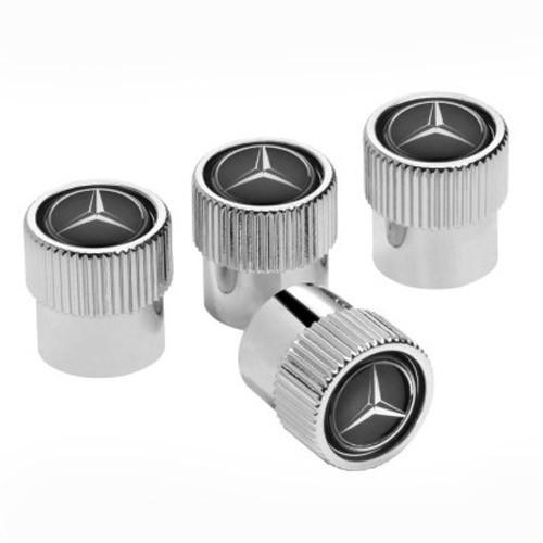 Оригінальні декоративні ковпачки ніпелей Mercedes-Benz Dust Caps Black (B66472002)