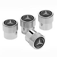 Декоративні ковпачки ніпелей Mercedes-Benz Dust Caps Black (B66472002)