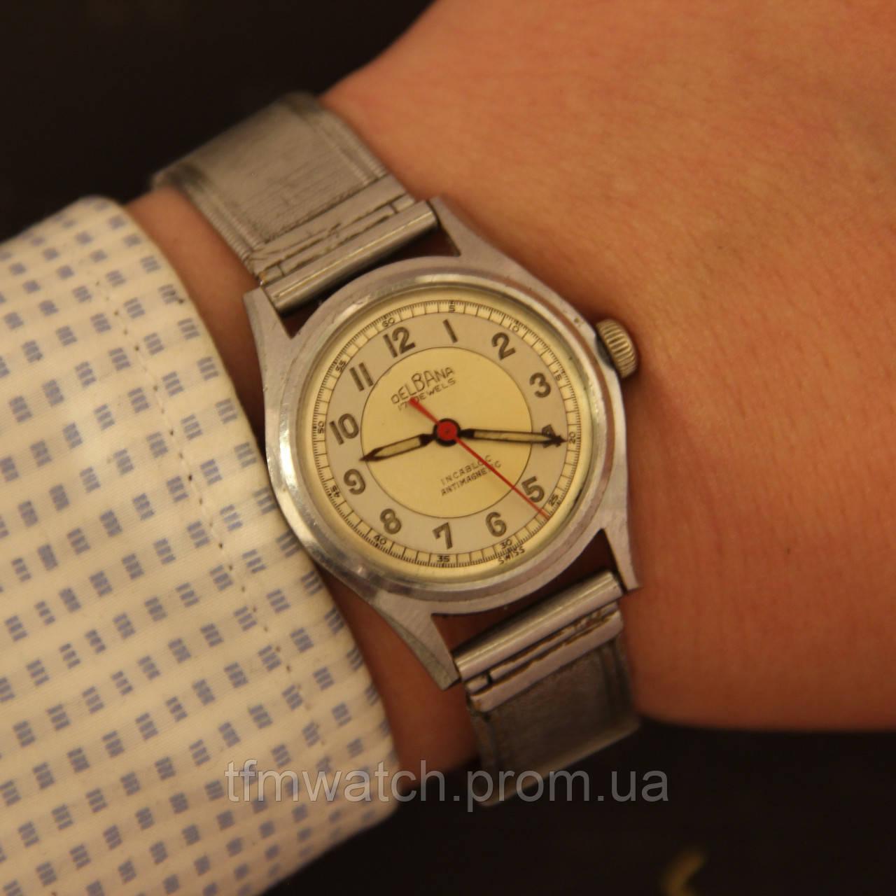 712cb6c4 Delbana наручные механические винтажные швейцарские часы: продажа ...