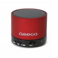 Блютус аудио колонка 1.0 omega bluetooth og47r red