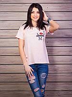Современная модная молодежная футболка из хлопка