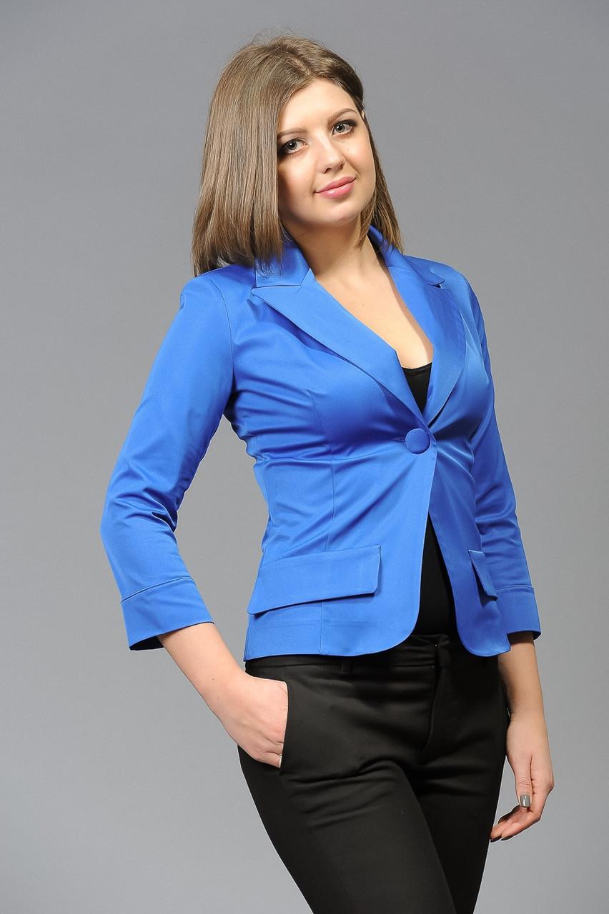 Женский пиджак синий размеры 46-58, рукав 3/4 - KoritsaStyle в Харькове