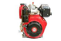 Дизельный двигатель Weima WM186FB (вал шлицы), 418cc/дизель 9,5 л.с., Ручной стартер для мотоблоков