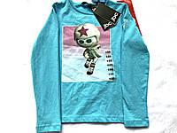 Кофточка для девочки голубого цвета с модным принтом от JBC