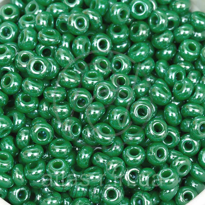 Бисер Preciosa Чехия №58250 1г, зеленый жемчужный