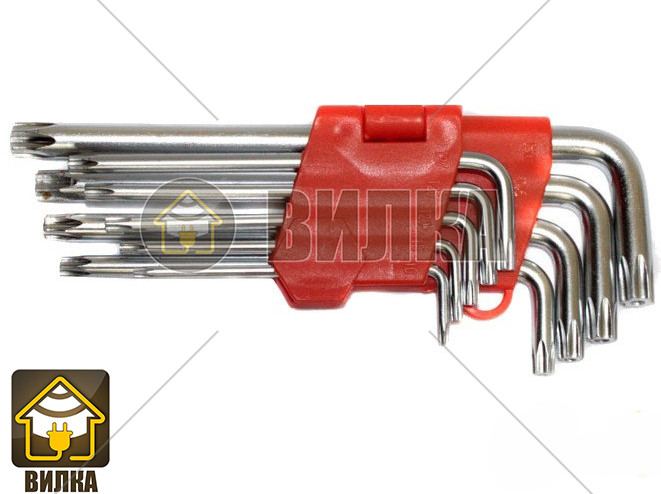 Набор ключей L-образных Torx средняя длина Lavita LA 511603