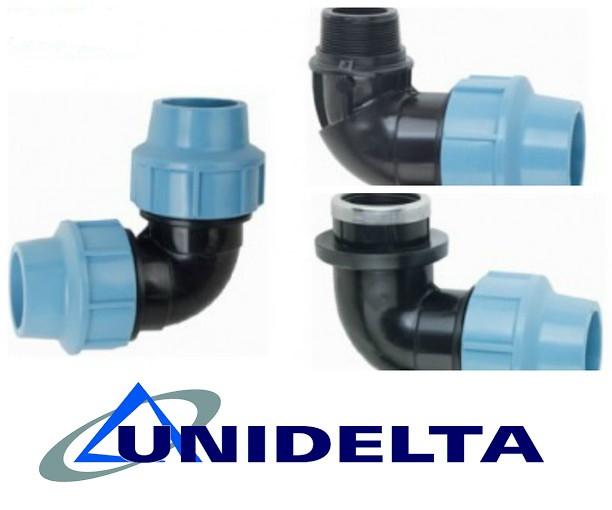 Углы для полиэтиленовых труб (Unidelta)