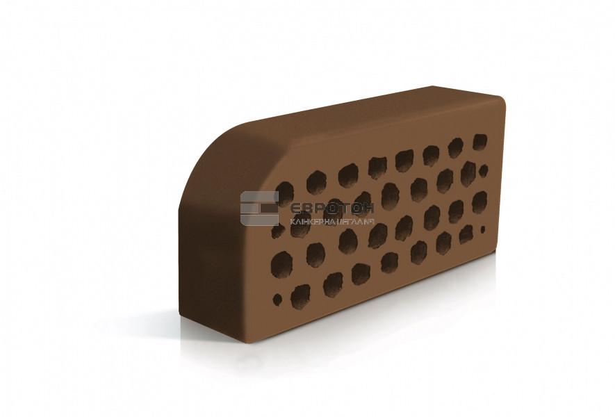Фасонный облицовочный кирпич ЕВРОТОН ВФ-5 коричневый
