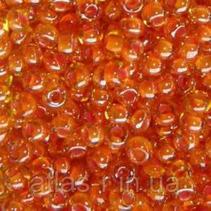 Бисер Preciosa Чехия №81391 1г, оранжевый хамелеон, прозрачный с внутренней окраской
