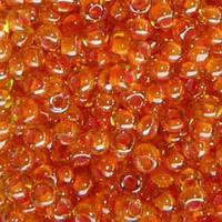 Бисер Preciosa Чехия №81391 50г, оранжевый хамелеон, прозрачный с внутренней окраской
