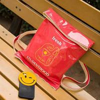 Стильная лаковая сумка-мешок  розовый