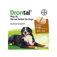 Дронтал Плюс XL (Drontal plus XL) Антигельминтик с вкусом мяса для собак 1 табл