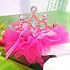 Корона заколка детская Фатин фиолетовая Тиара Виктория для волос диадема детские украшения, фото 5
