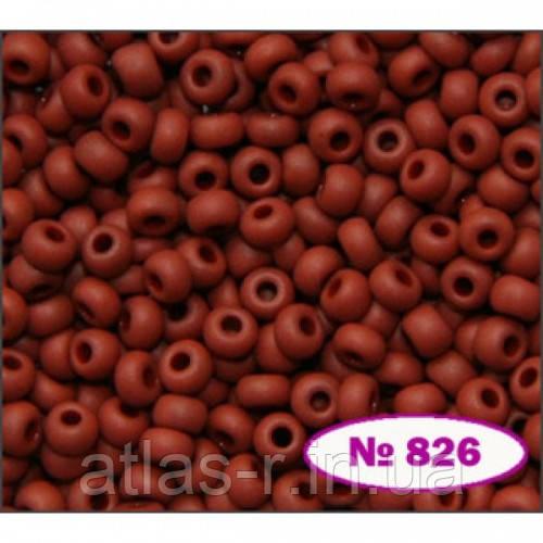 Бисер Preciosa Чехия №13600 matt 1г, коричневый, натуральный матовый