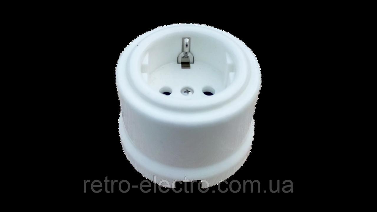 a2536ad59998 Ретро розетка керамическая белая Bironi - Интернет магазин Retro Shop в  Киеве
