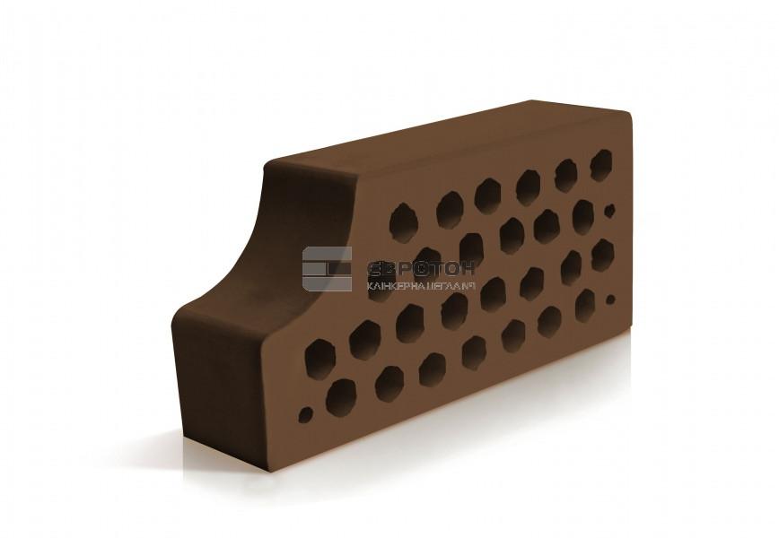 Фасонный облицовочный кирпич ЕВРОТОН ВФ-14 коричневый