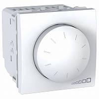 Диммер (светорегулятор) SCHNEIDER Unica MGU3.511.18, для устройств с ферромагнитным трансформатором, белый