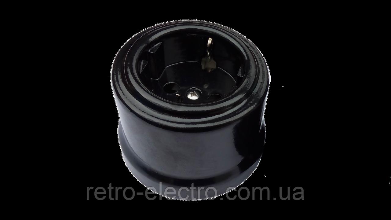 ad42d7798435 Ретро розетка керамическая черная Bironi  продажа, цена в Киеве ...