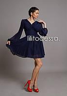 Платье коктейльное темно-синий, фото 1