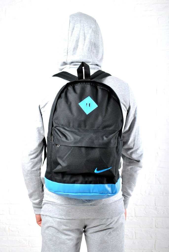 Рюкзак Nike копия черно-синий