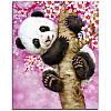 """Картина для рисования камнями Diamond painting Алмазная вышивка """"Панда на дереве"""""""