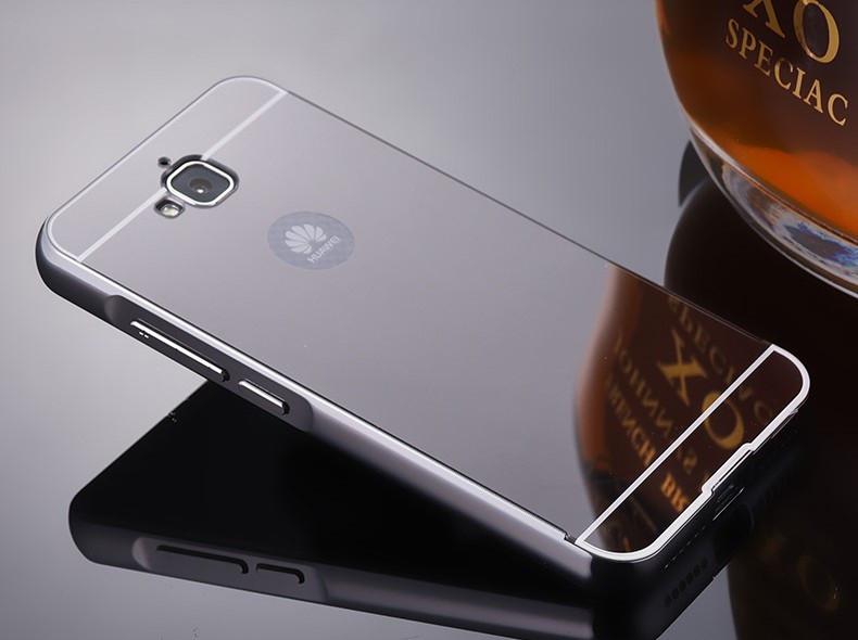 Алюминиевый чехол бампер для Huawei Y6 Pro