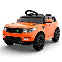 Детский электромобиль M 3402 EBLR-7Land Rover на резиновых EVA колёсах, КОЖА, оранжевыйдитячий електромобіль