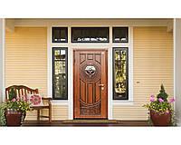 Двери входные Abwehr - Luck Vinorit ковка 860*2050 мм. (Дуб золотой патина)