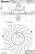 Тормозной диск MERCEDES 221
