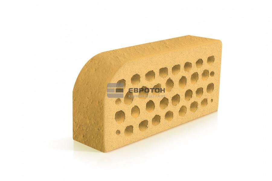 Фигурный клинкерный кирпич ЕВРОТОН ВФ-5 корсика желтый