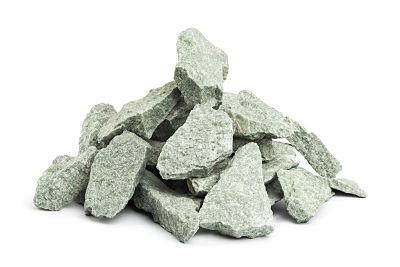 Камень для бани жадеит мелкий в мешке 10 кг Хакасия (колотый)