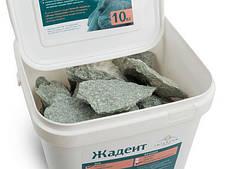 Камень для бани жадеит мелкий в ведре 10 кг Хакасия (колотый), фото 3