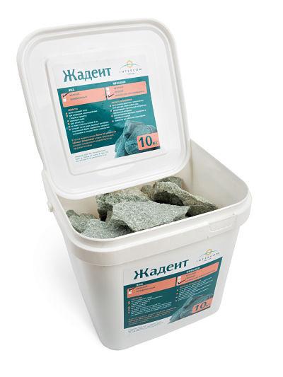 Камень для бани жадеит мелкий в ведре 10 кг Хакасия (колотый)
