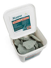 Камень для бани жадеит мелкий в ведре 10 кг Хакасия (колотый), фото 2