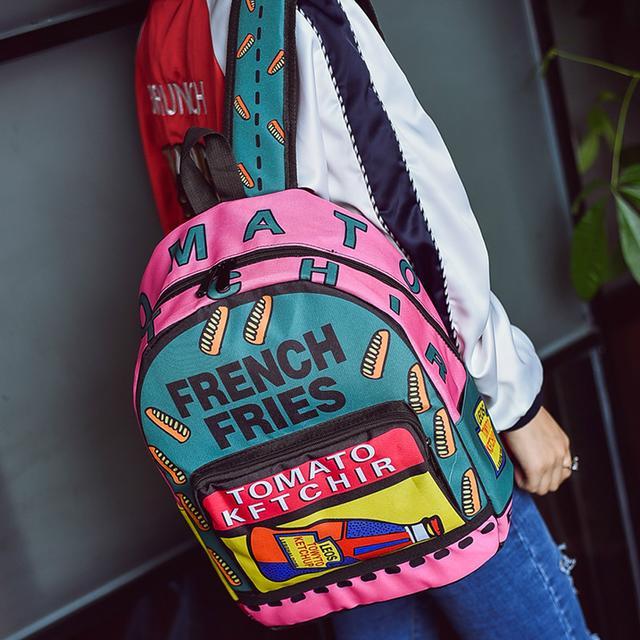 Молодежный рюкзак с ярким принтом