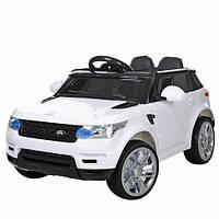 Детский электромобиль M 3402 EBLR-1Land Rover на резиновых EVA колёсах, КОЖА, белыйдитячий електромобіль