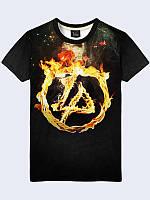 Модная футболка Linkin Park Fire с красочным 3D-рисунком из легкой летней ткани.