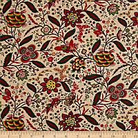 """Ткань для пэчворка и рукоделия американский хлопок """"Ретро цветы на беж"""" - 45*55 см"""