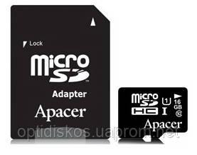 Карта памяти Apacer microSDHC 16GB UHC-I U1 Class 10 + SD adapter, фото 2