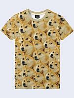 3D-Футболка мужская Пёс мем с модным молодежным рисунком/принтом из легкой ткани на лето.