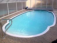 Стекловолоконный бассейн Эльдороадо 9,20х4,30м глубиной 1,11-1,66м