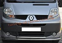 Защита переднего бампера труба двойная из нержавейки на Renault Trafic 2001-2014