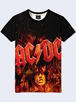 Оригинальная мужская 3D-футболка AC/DC Fire для поклонников известной рок-группы.